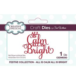 Creative Expressions Festive All Is Calm All Is Bright Dies by Sue Wilson