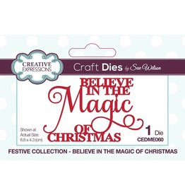 Creative Expressions Festive Believe In The Magic Of Christmas Dies by Sue Wilson
