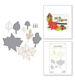 Spellbinders Holiday Florals Glimmer Hot Foil Plate and Die Set
