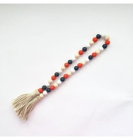 Foundations Décor Wood Beads - Black,White,Orange,Natural