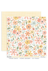 Cocoa Vanilla 12X12 Patterned Paper, These Days - Home Grown