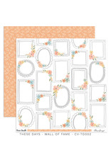 Cocoa Vanilla 12X12 Patterned Paper, These Days - Wall of Fame