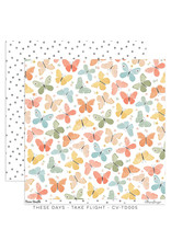 Cocoa Vanilla 12X12 Patterned Paper, These Days - Take Flight