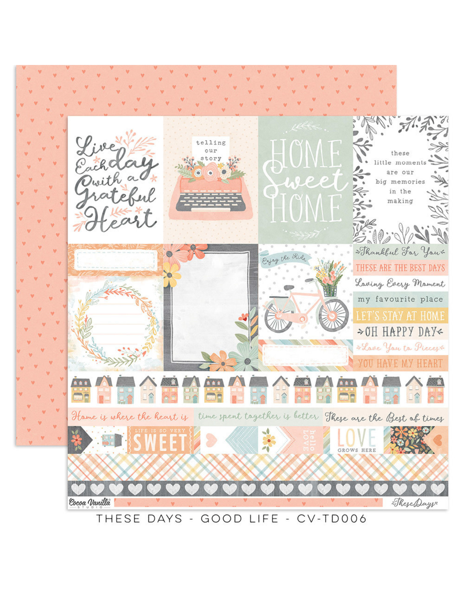 Cocoa Vanilla 12X12 Patterned Paper, These Days - The Good Life