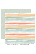 Cocoa Vanilla 12X12 Patterned Paper, These Days - Family Ties