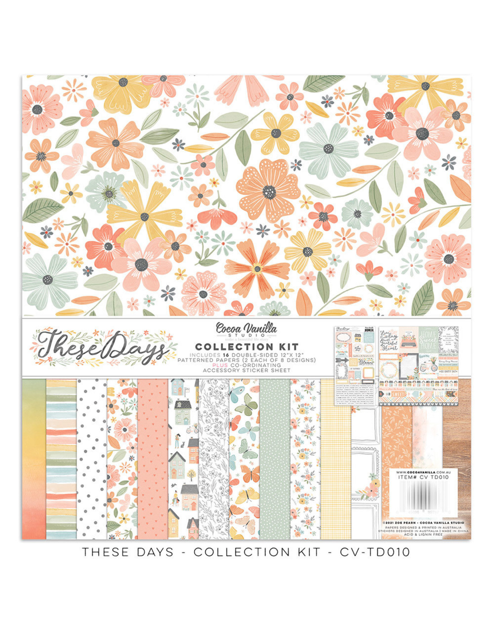 Cocoa Vanilla 12X12 Collection Kit, These Days