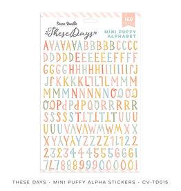 Cocoa Vanilla Mini Puffy Alpha Stickers, These Days