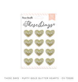 Cocoa Vanilla Puffy Gold Glitter Hearts, These Days