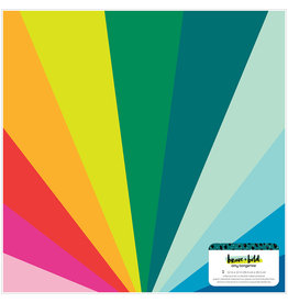 AMERICAN CRAFTS IRIDESCENT FOIL ON DOUBLE SIDED CARD STOCK-BRAVE & BOLD 12X12