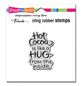 Stampendous Cocoa Hug Cling Stamp