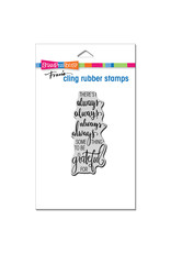 Stampendous Always Grateful Cling Stamp
