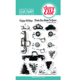 Avery Elle Layered Holiday Truck Clear Stamp