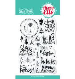 Avery Elle Merry Circle Tags Clear Stamp