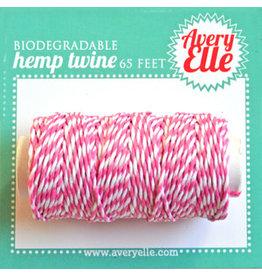 Avery Elle Raspberry Hemp Twine