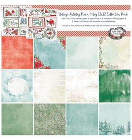 49 AND MARKET 12X12 PACK-PEACE & JOY COLL