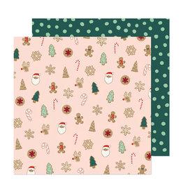 Crate Paper Busy Sidewalks  - Christmas Cookies - 12 x 12  Paper