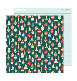 Crate Paper Busy Sidewalks - Deck the Halls - 12 x 12 Paper