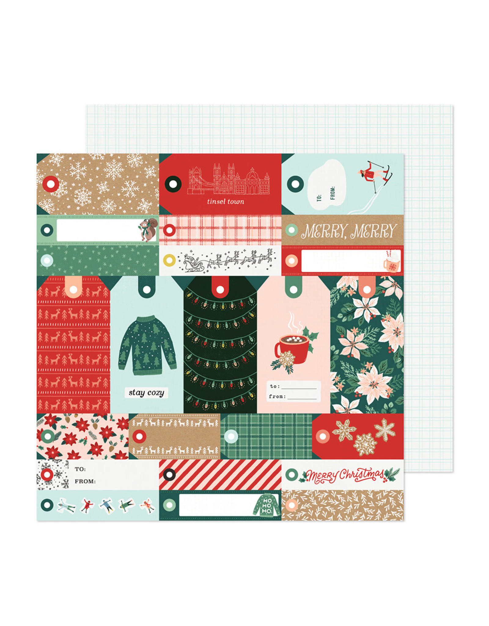 Crate Paper Busy Sidewalks - Merry Merry - 12 x 12 Paper