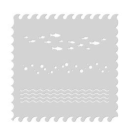 Hero Arts Waves Stencil