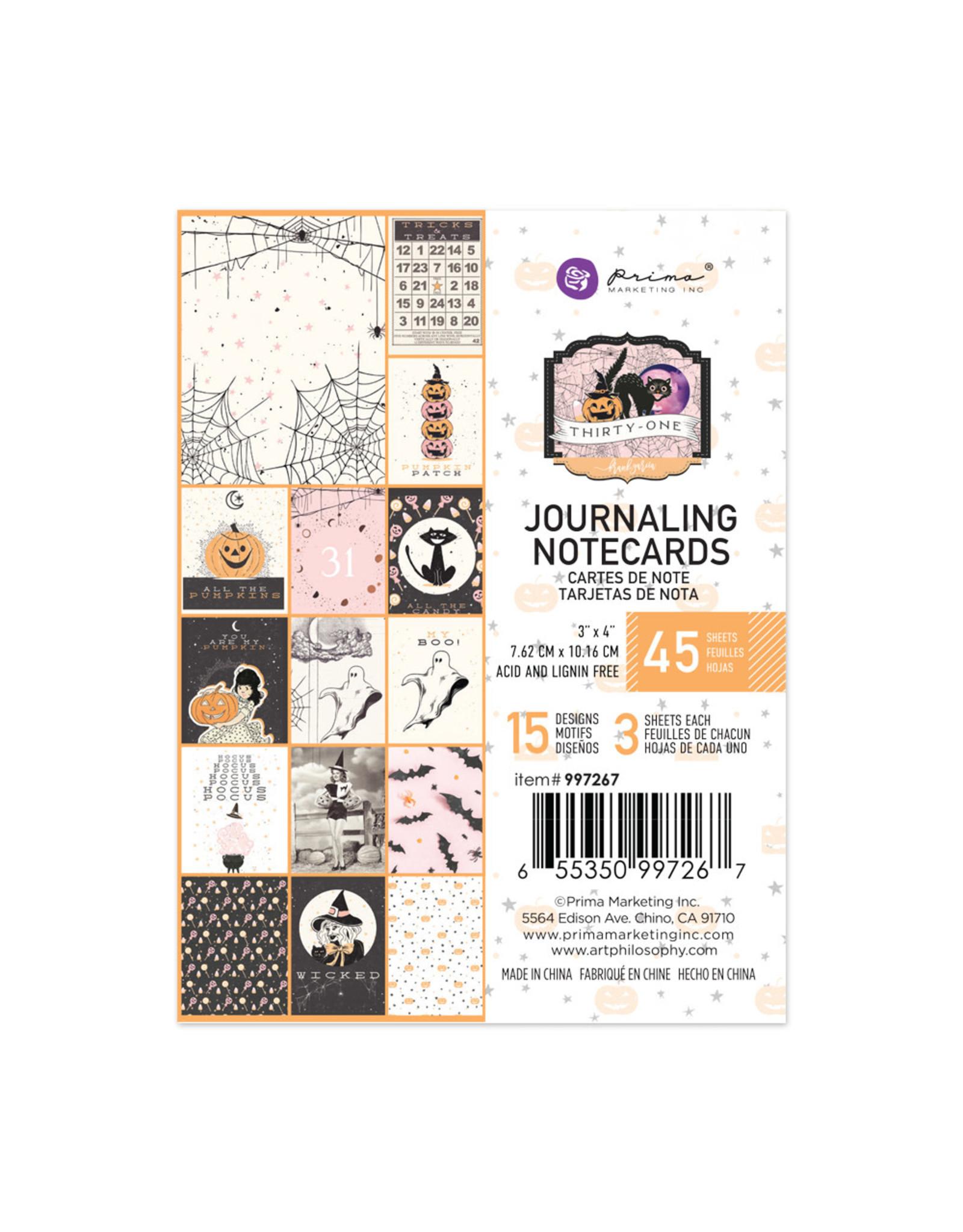PRIMA MARKETING INC 3X4 JOURNALING NOTECARDS -THIRTY-ONE PAPER PAD