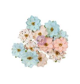 PRIMA MARKETING INC Christmas Sparkle Peppermint Flowers #2 12 PCS