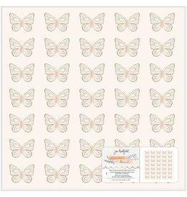 """jen hadfield Peaceful Heart Paper 12"""" Foil Paper"""