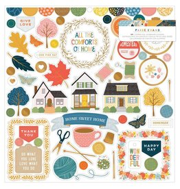 Paige Evans Bungalow Lane 12x12 Sticker