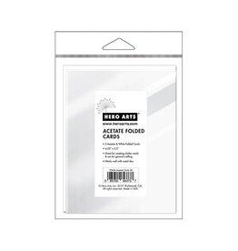 Hero Arts Acetate Cards /w envelopes 4 x 5.25 5/pkg