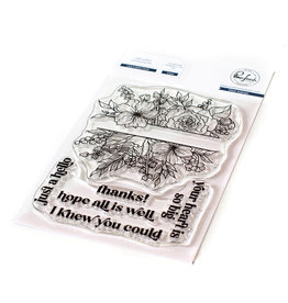 PINKFRESH STUDIO Just a Hello Floral stamp set