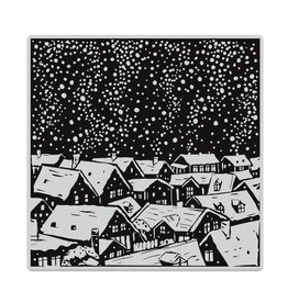 Hero Arts Snowy Rooftops Bold Prints Cling Stamp