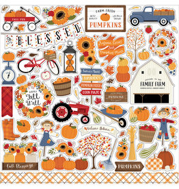 Echo Park Fall Collection - 12 x 12 Cardstock Stickers - Elements