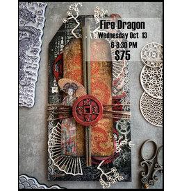 Stamperia Fire Dragon - Oct 13