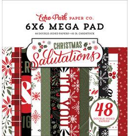 Echo Park Salutations Christmas Cardmakers 6x6 Mega Pad