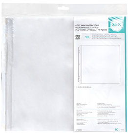 WE R MEMORY KEEPERS 12X12 Page Protectors, Post (10 Piece)