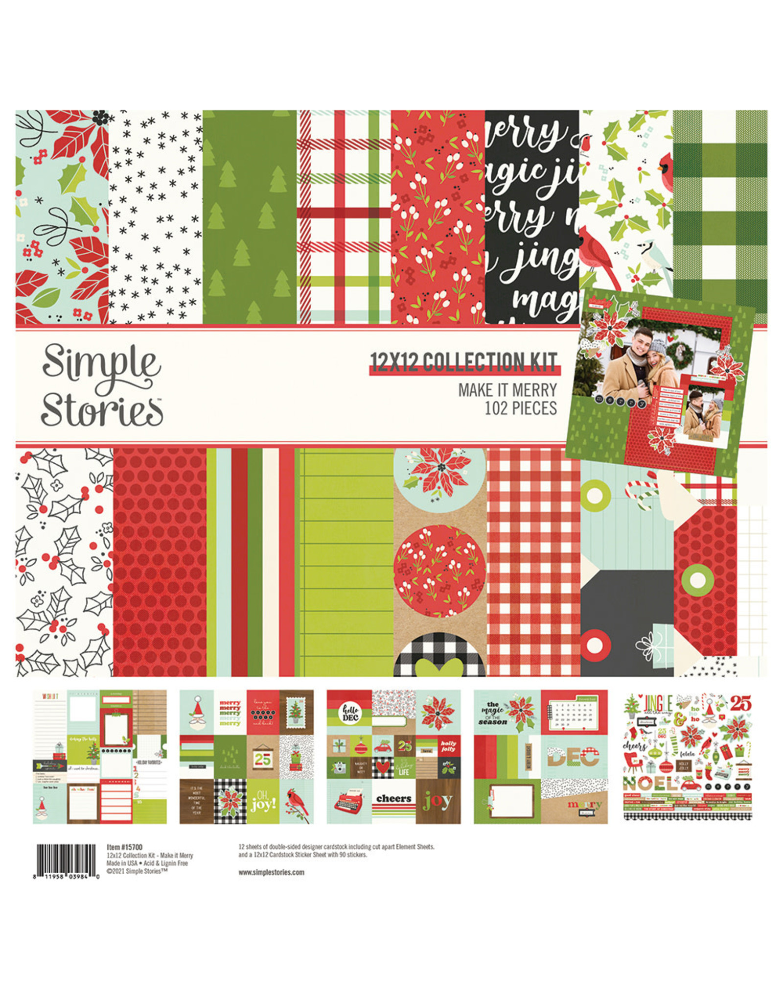 Simple Stories Make it Merry Collection Kit
