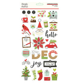 Simple Stories Make it Merry - 6x12 Chipboard