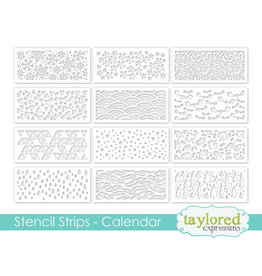 Taylored Expressions Stencil Strips Calendar (Set of 12)