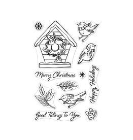 Hero Arts Christmas Robins Stamp