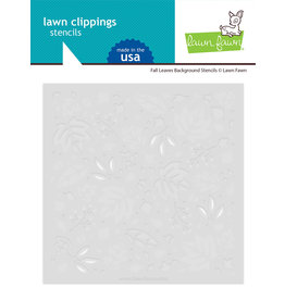 Lawn Fawn Fall Leaves Background Lawn Clippings - Stencil