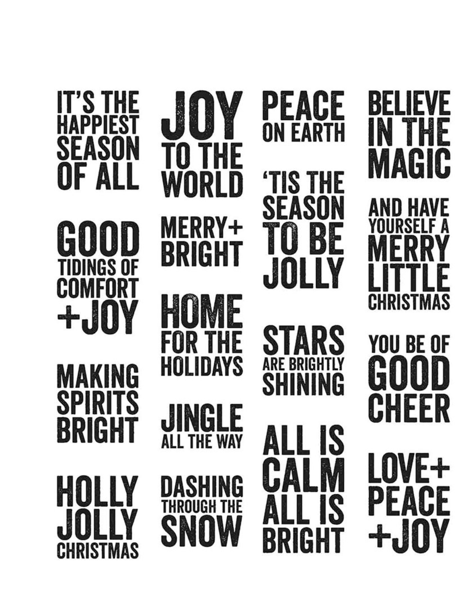 Stampers Anonymous Bold Tidings Mini Cling Stamp