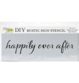 THE CRAFTERS WORKSHOP HAPPILY EVER AFTER-SIGN TEMPLATE 16.5X6