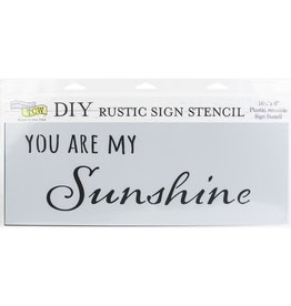 THE CRAFTERS WORKSHOP MY SUNSHINE-SIGN TEMPLATE 16.5X6