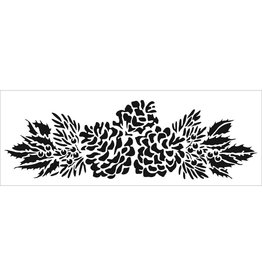 THE CRAFTERS WORKSHOP PINECONE  -SIGN TEMPLATE 16.5X6
