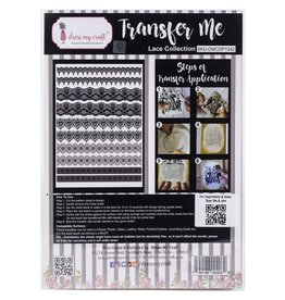 DRESS MY CRAFT LACE COLLECTION -TRANSFER ME SHEET A4