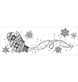 THE CRAFTERS WORKSHOP SNOWY MITTENS-SIGN TEMPLTES 16.5X6