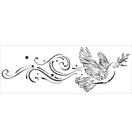 THE CRAFTERS WORKSHOP PEACE DOVE-SIGN TEMPLTES 16.5X6