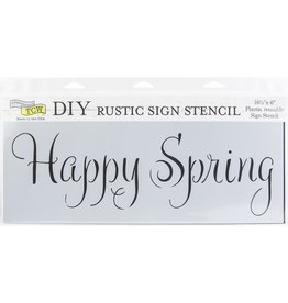 THE CRAFTERS WORKSHOP HAPPY SPRING-SIGN TEMPLTES 16.5X6
