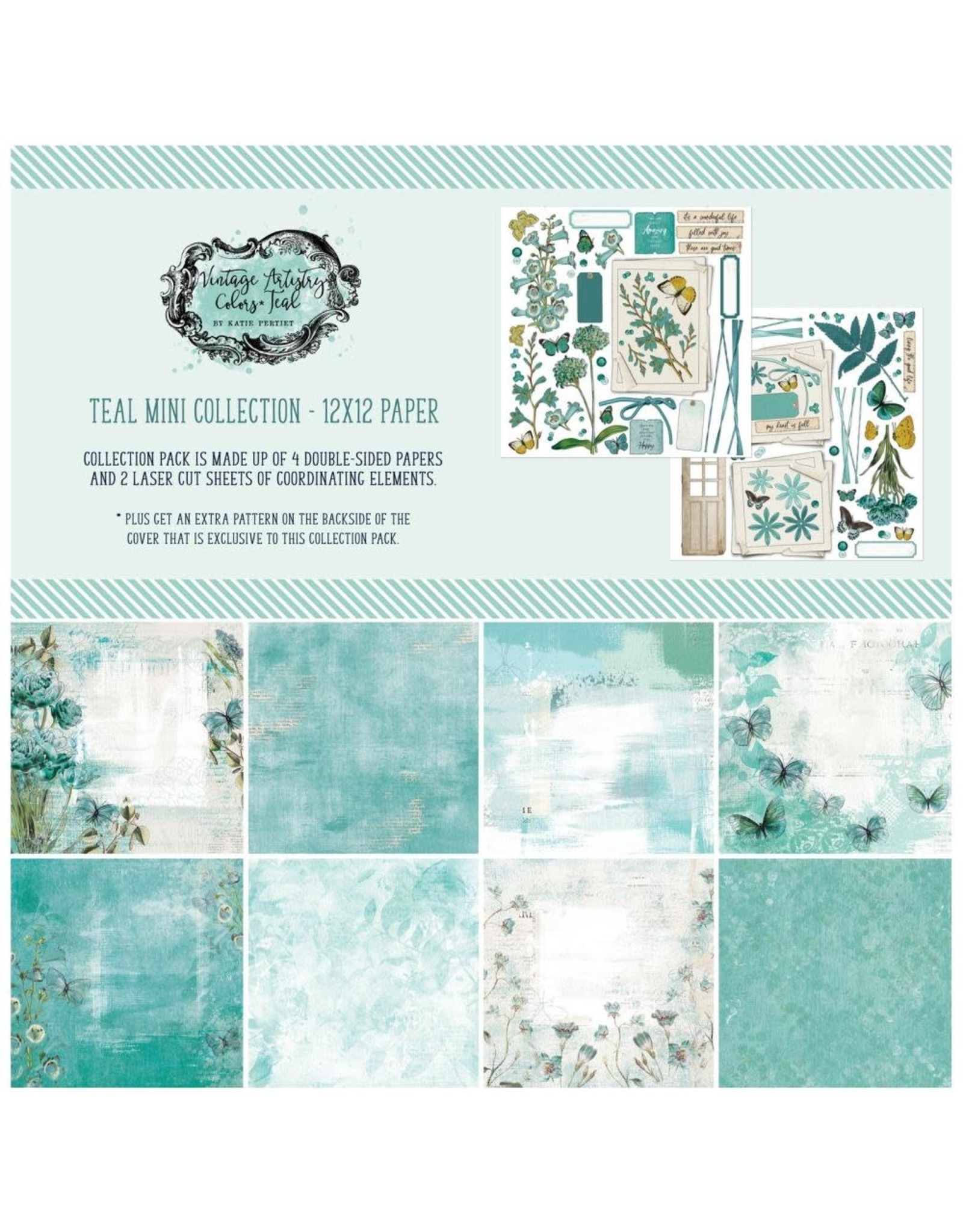 49 AND MARKET 12X12 PACK-VA IN TEAL COLLECTION