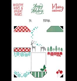 LDRS Creative Christmas 4x6 Gift Tag stack Stamp Set