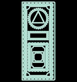 LDRS Creative Diagonal Stitched Postage Frames Slimline Die Set